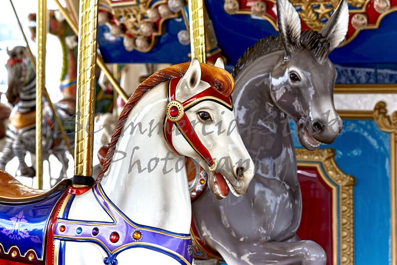 Carousel Horse on Brass pole