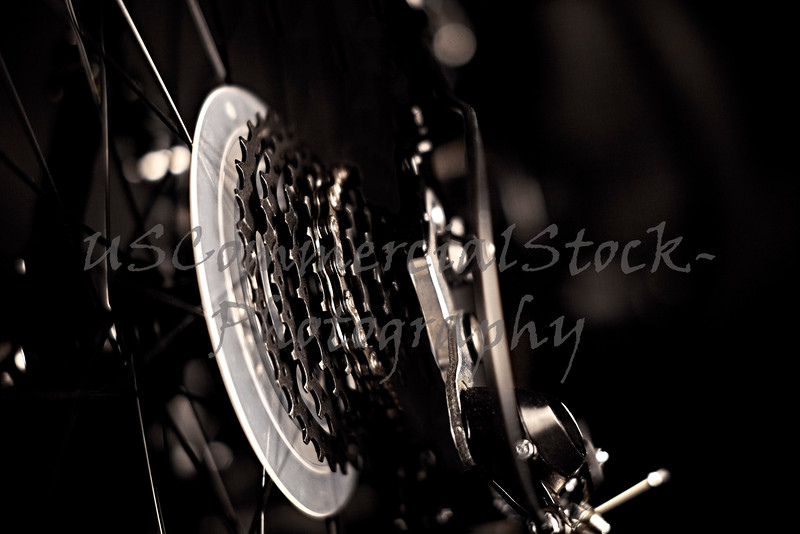 Close Up of Gears on a Bicycle
