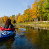 Kayaking on the Lake in Autumn
