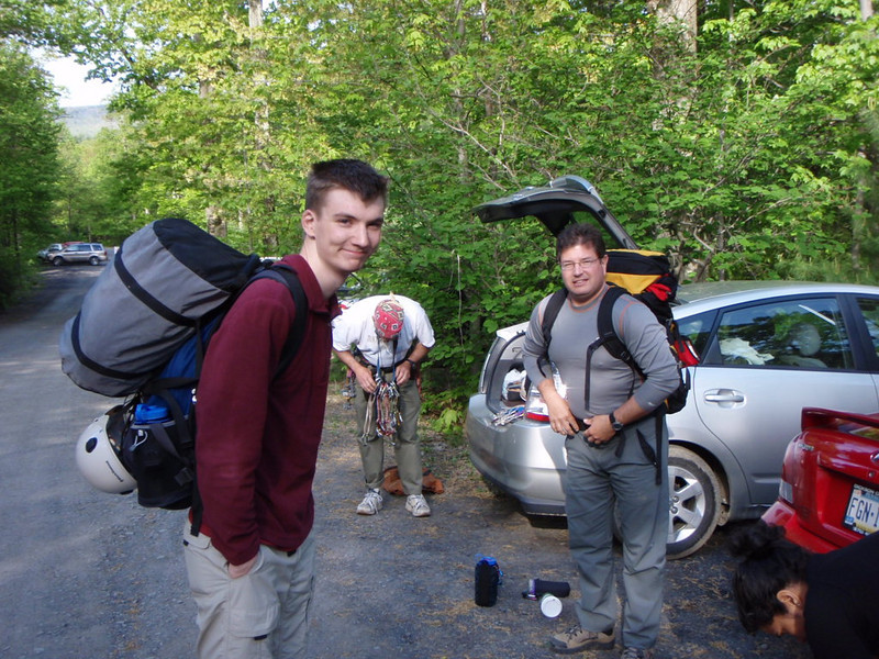 Seamus and Mike getting ready to head out on Sunday.