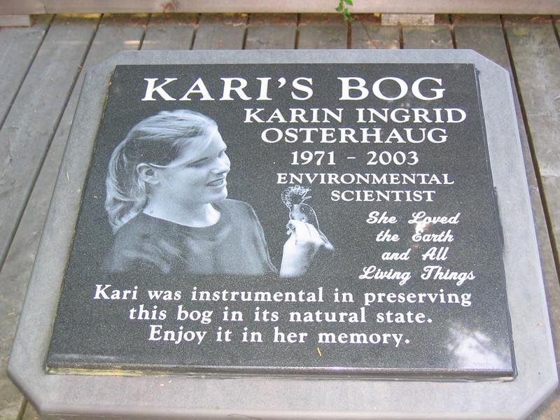 """Kari's Bog"" at the Redmond Watershed"