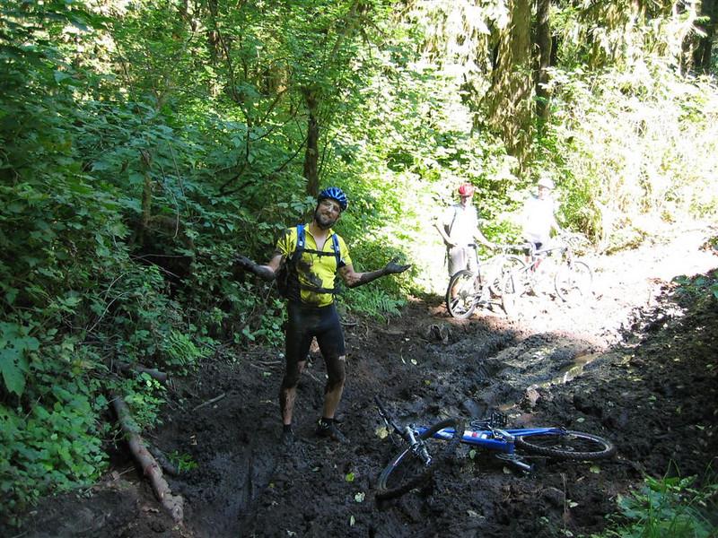 Adam samples the medicinal qualities of Mud