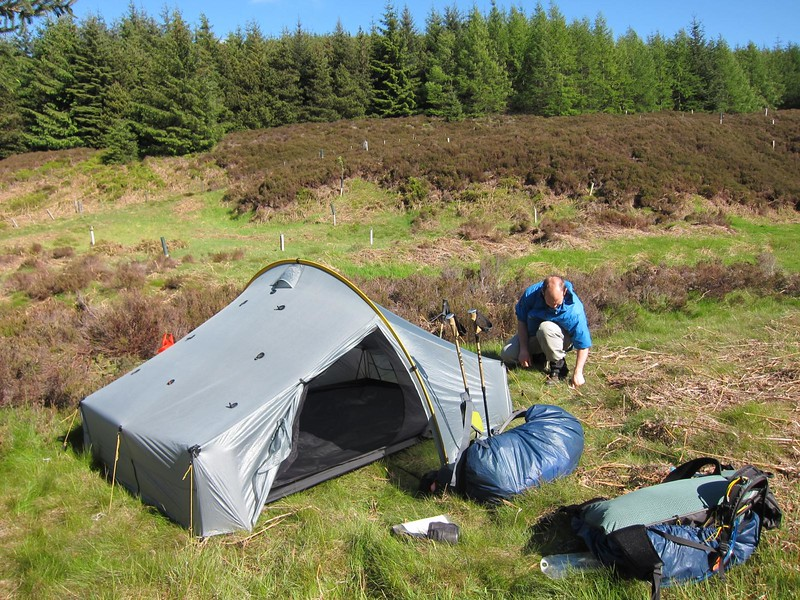 Fetteresso Forrest - loverly campsite (thanks Graeme!) at NO721875