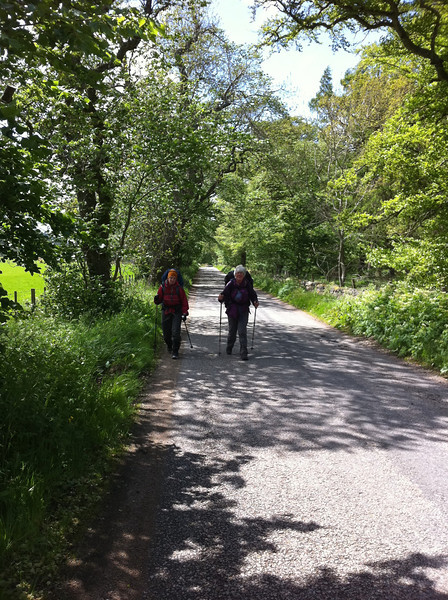Boring road walk to Ballater
