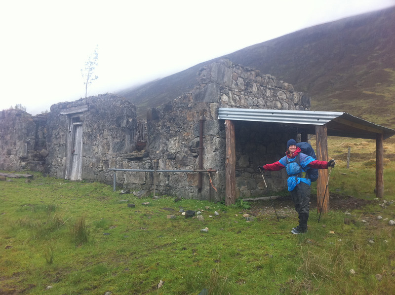 The ruin of Glenmallie - would make a good pitching spot