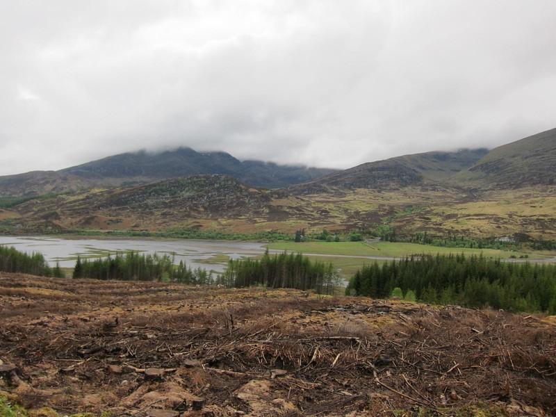 Views across the Roughburn reservoir