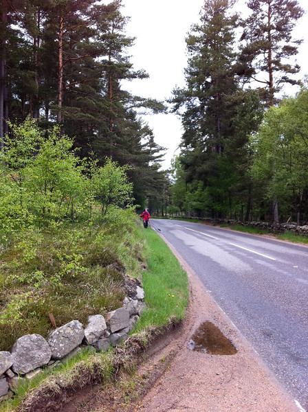 Road walk to Invercauld Bridge