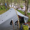 Our wonderful (and private) campsite along the riverbank ~ NN439820