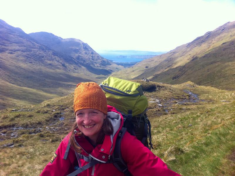 Gleann Meadail - looking back towards Skye