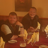 Challenger dinner party at Panmure Arms Hotel, Edzell (from left to right Richard and Andy)
