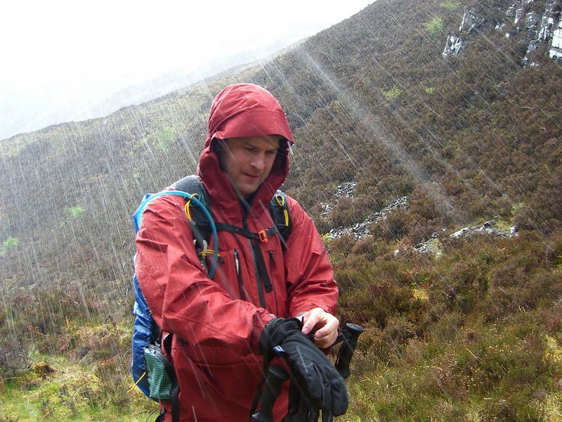 Falls of Glomach - checkout the near horizontal rain