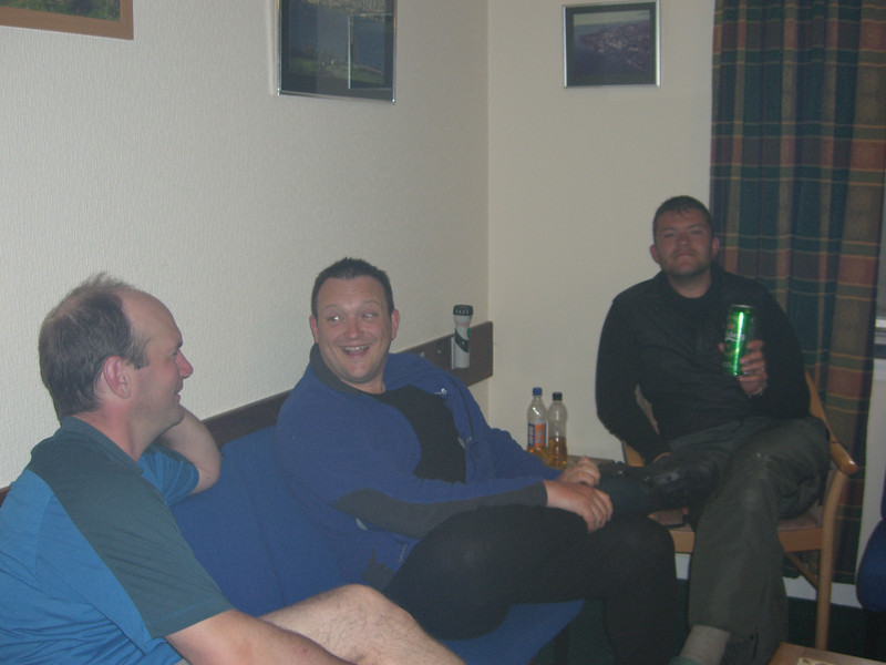 Fellow challengers at St Drodnas's Lodge (Andy and Richard)