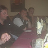 Challenger dinner party at Panmure Arms Hotel, Edzell (from left to right Alistair, Richard and Andy)