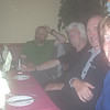 Challenger dinner party at Panmure Arms Hotel, Edzell (from left to right John, Gordon,  Bill and Lynn)