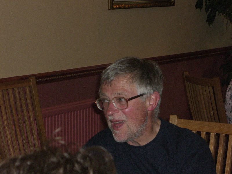 Challenger dinner party at Panmure Arms Hotel, Edzell (Bill)