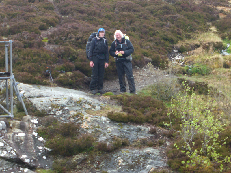 Bridge crossing at the waterful, upper Glen Feshie (Des and Russ)