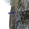 Bridge crossing at the waterful, upper Glen Feshie