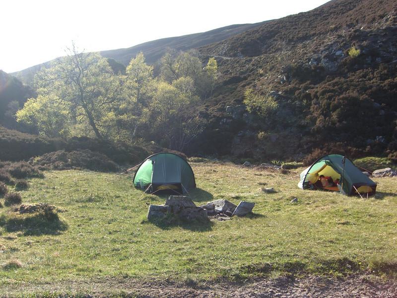 Wildcamp in upper Glen Feshie