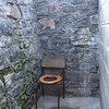 Flush toilet at the Ruigh-aiteachain bothy, Glen Freshie...  Not quite.  You had to go with a bucket to the stream to get water to flush down anything other than liquid waste.  Note:   The seat is meant to go over the hole.  Just easier for the boys to have it pushed aside for most business.