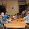 The kitchen table was a gathering place to hear the tales from the night's hunting.