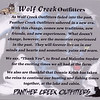 Transition from Wolf Creek Outfitters to Panther Creek Outfitters