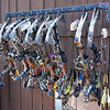 Mathews, The Leader In Bows.<br /> <br /> Bows and Equipment  -  $10,000 +<br /> <br /> Bow Hanger  -  $200 <br /> <br /> Screws  -  $2 <br /> <br /> Freaking Rack Falling With Bows -Priceless