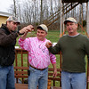 Jason F., Nick and Donnie Toasting the Start of the Dogman Competition