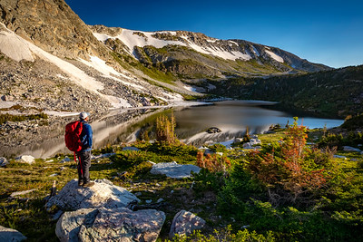 Sunrise along the Lakes Trail in the Snowy Range Mountains near Laramie, Wyoming. The trail takes hikers past flower-filled meadows below Medicine Bow Peak. The trail earns it name from the many lakes you pass in the alpine landscape, including starting at Mirror Lake, passing Lookout Lake and ending with views of Lewis, Libby and the Klondike lakes.   Photo by Kyle Spradley | © Kyle Spradley Photography | www.kspradleyphoto.com