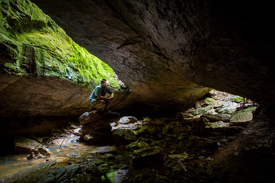 The Devil's Icebox at Rock Bridge State Park in Columbia, Mo. Devil's Icebox Cave has a total mapped passage distance of more than seven miles.  Photo by Kyle Spradley |