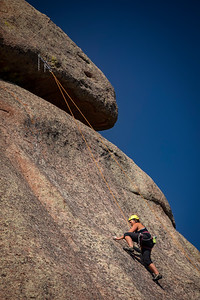 Summer rock climbing out at the Blair-Wallis area of Vedauwoo in the Medicine Bow-Routt National Forest outside of Laramie, Wyoming.  Photo by Kyle Spradley | © Kyle Spradley Photography | www.kspradleyphoto.com