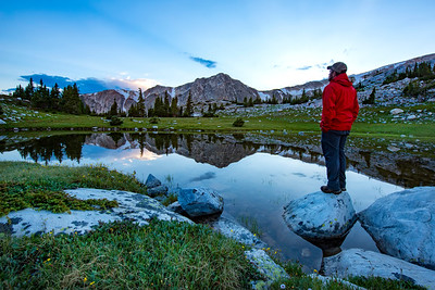 High altitude scence from sunset in the Snowy Range Mountains, outside of Laramie, Wyoming. The area near Sugarloaf Mountain has several small meadows and saddles that after the spring snow melt, are awash in color from wildflowers.   Photo by Kyle Spradley | © Kyle Spradley Photography | www.kspradleyphoto.com