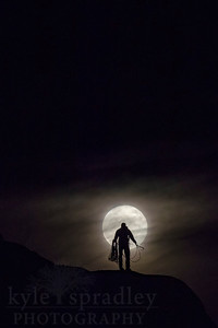 Vedauwoo Climber & Supermoon