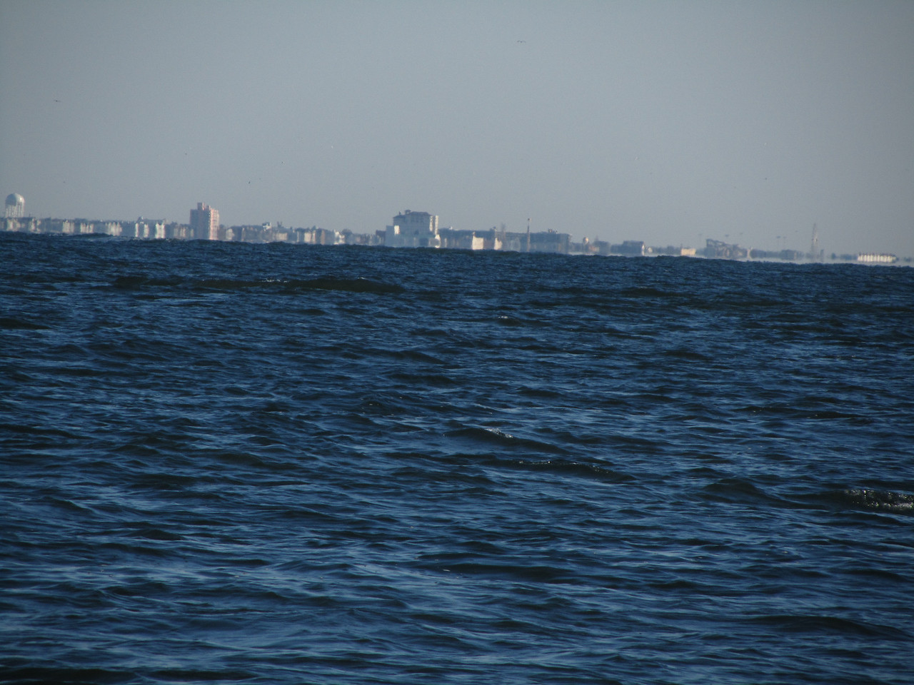 Looking North to the next island in the chain, and Ocean City NY.