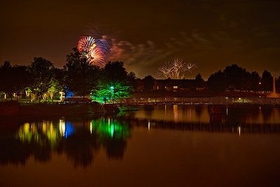 Fireworks over the Lake - July 4th 2016