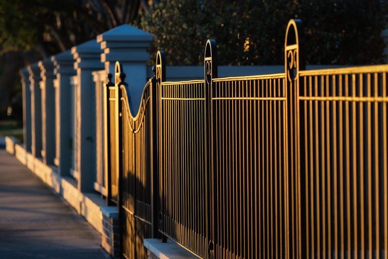 Golden Battery Fence