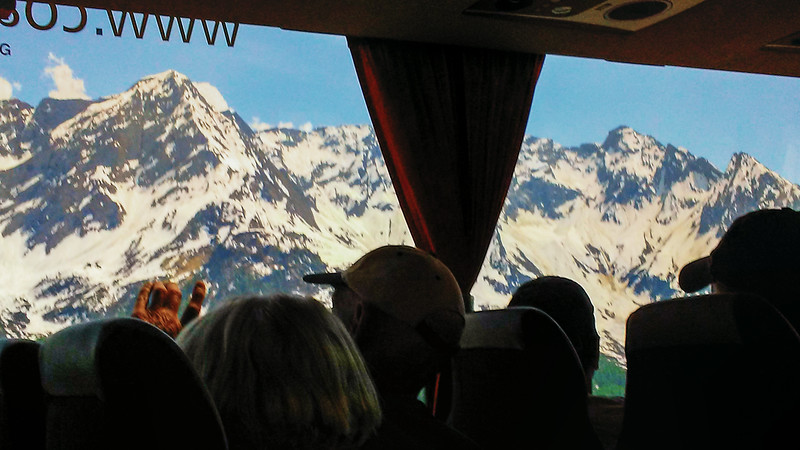 Traveling over the Alps