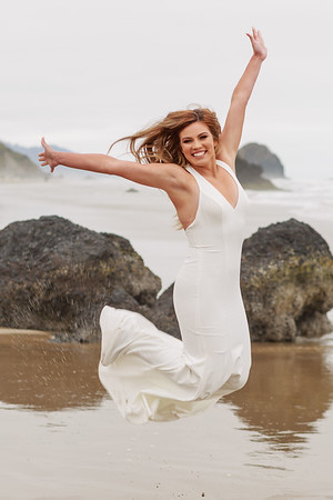 Image of high school senior jumping for joy