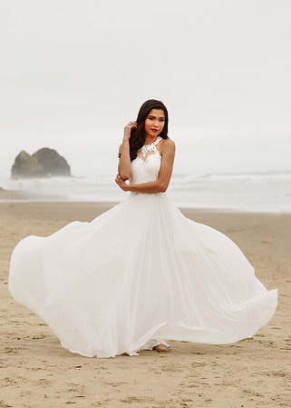 Bride on Canon Beach