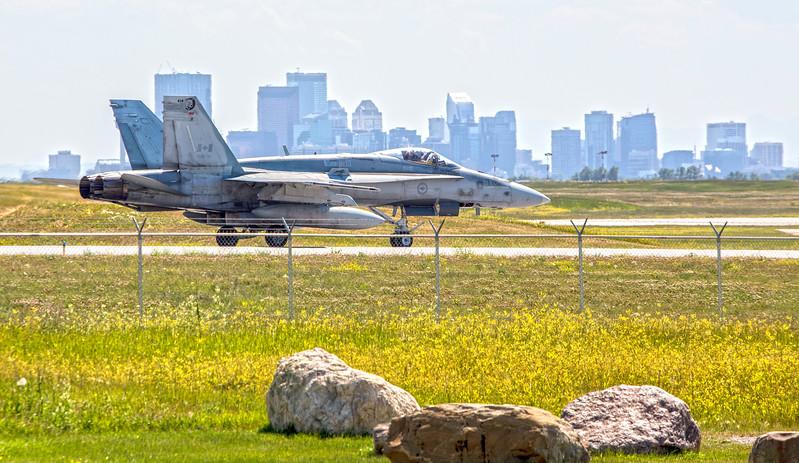 F18 Hornet Going Downtown