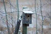 Vacancy - Gone South For Winter<br /> <br /> As you can maybe tell from the number on this birdhouse, it is one of a network of Mountain BlueBird nesting boxes, that you see along the backroads, that wind through the foothills of Southern Alberta.
