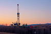 Dawn - Drilling rig on a well near Longview Alberta