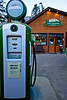 Wouldn't you know it, I find myself running low on fuel at Castle junction located on the Park Way, a backroad in Banff Park, probably the highest priced gas in Alberta!