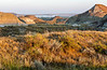 Another stunning morning in the Badlands of Eastern Alberta.<br /> <br /> Off in the distance you can see fog hanging on the surface of the Red Deer River that flows through the badlands.