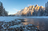 Sunrise -The Bow River and Castle Mountain  - Banff National Park