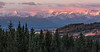 The Alberta Rockies at Sunrise.