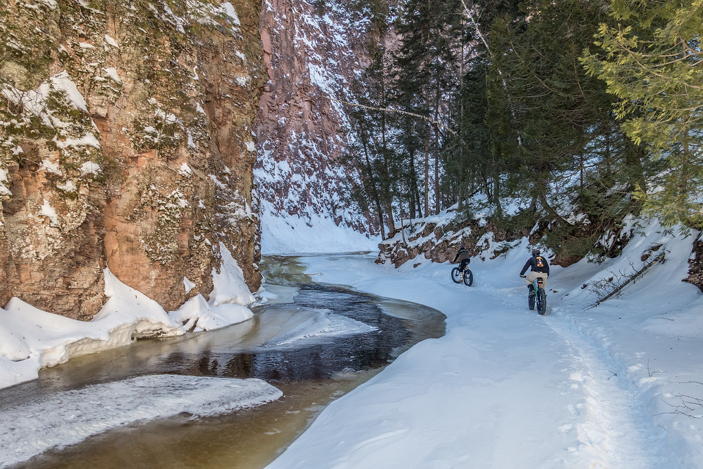 BIKING 08843<br /> <br /> The depths of the gorge...<br /> <br /> Devil Track River just north of Grand Marais, MN