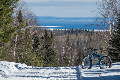 """A view of Lake Superior from the trail"""