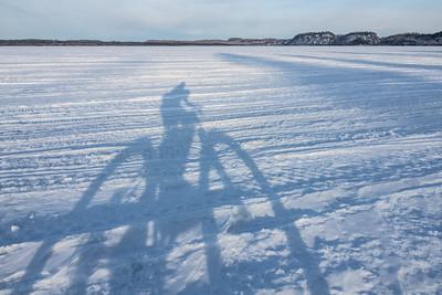 """Crossing South Fowl Lake"""