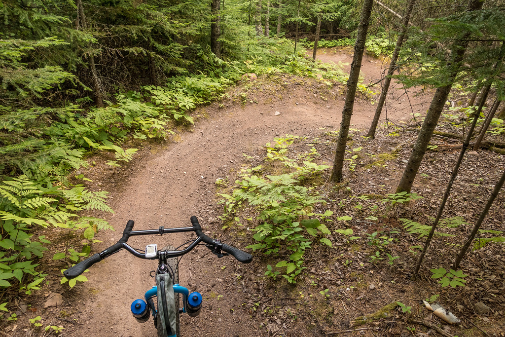 "BIKING 06213<br /> <br /> ""Dropping in to Till-Ta-Whirl""<br /> <br /> This is gonna be fun :-)<br /> <br /> Pincushion Mountain - Grand Marais, MN"