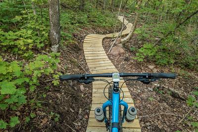 """BIKING 02058  """"North Woods Roller Coaster""""  Britton Peak singletrack trails near Tofte, MN"""
